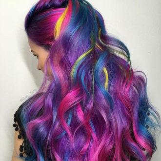Выездной салон красоты Цветные пряди