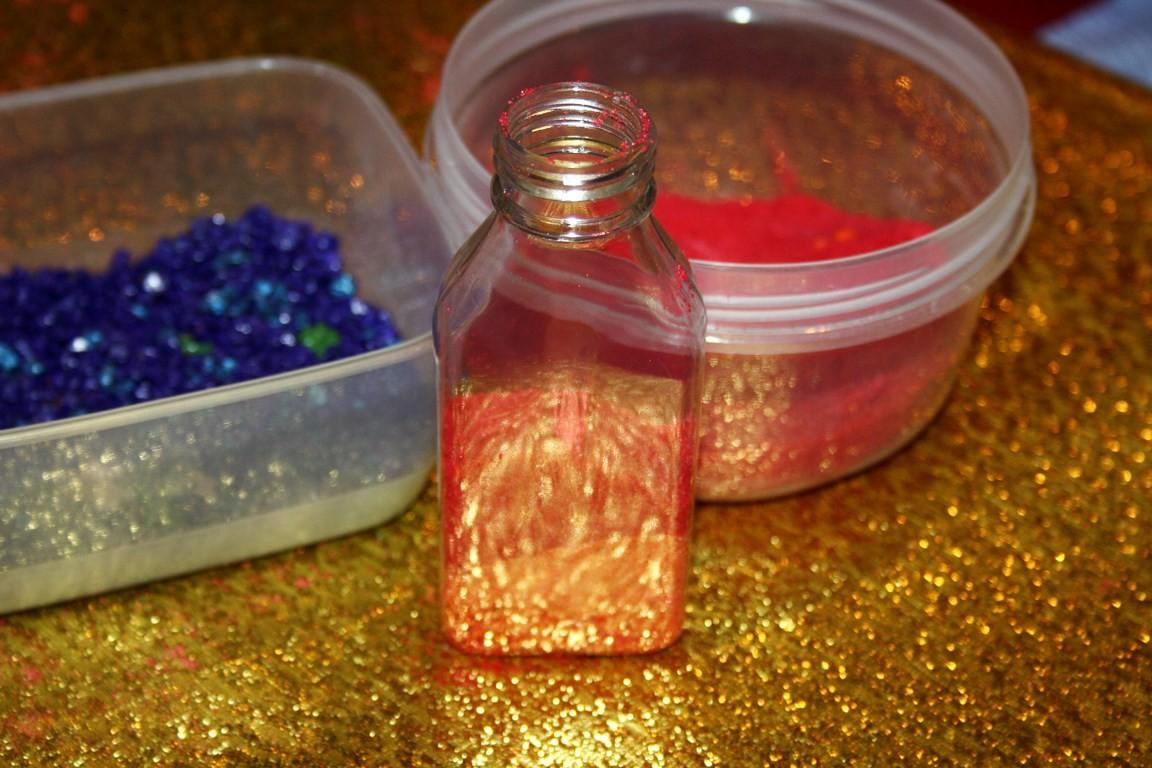 мастер-класс по созданию бутылочки с песком