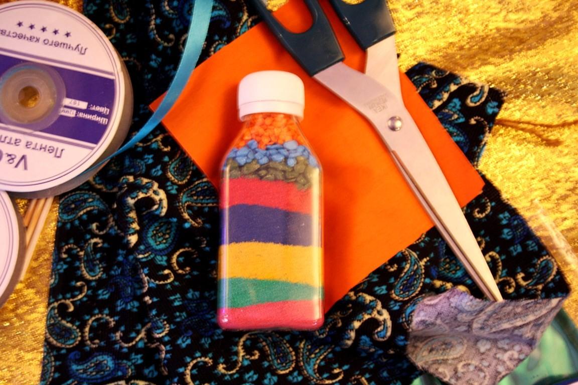бутылочка с песком