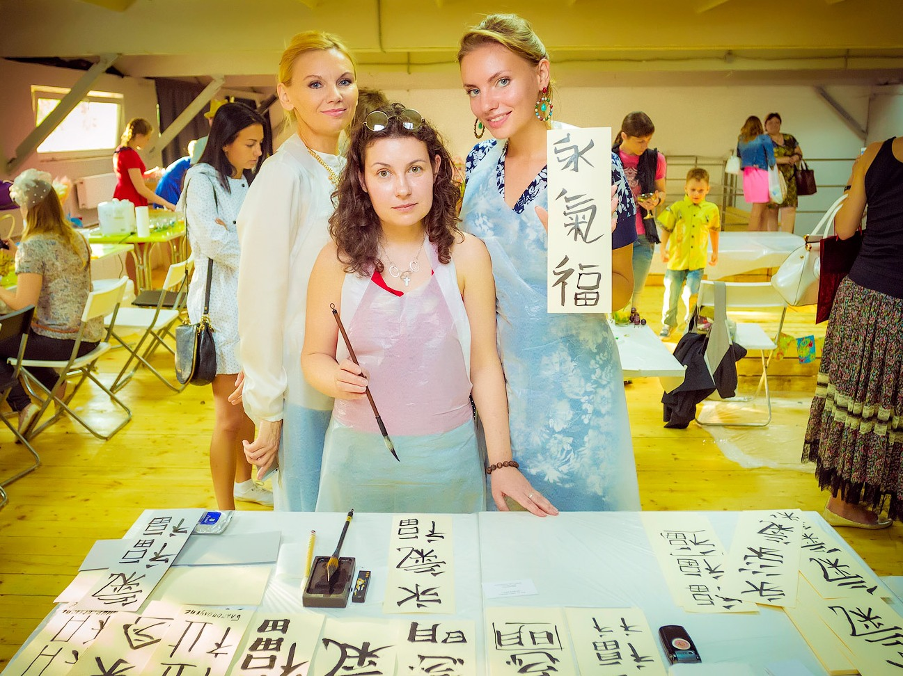 Мастер-класс по каллиграфии, японской живописи, иероглифам