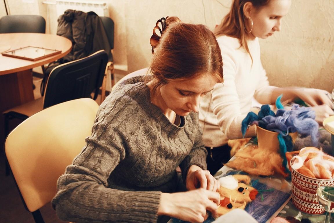 Картина из шерсти выездной мастер-класс