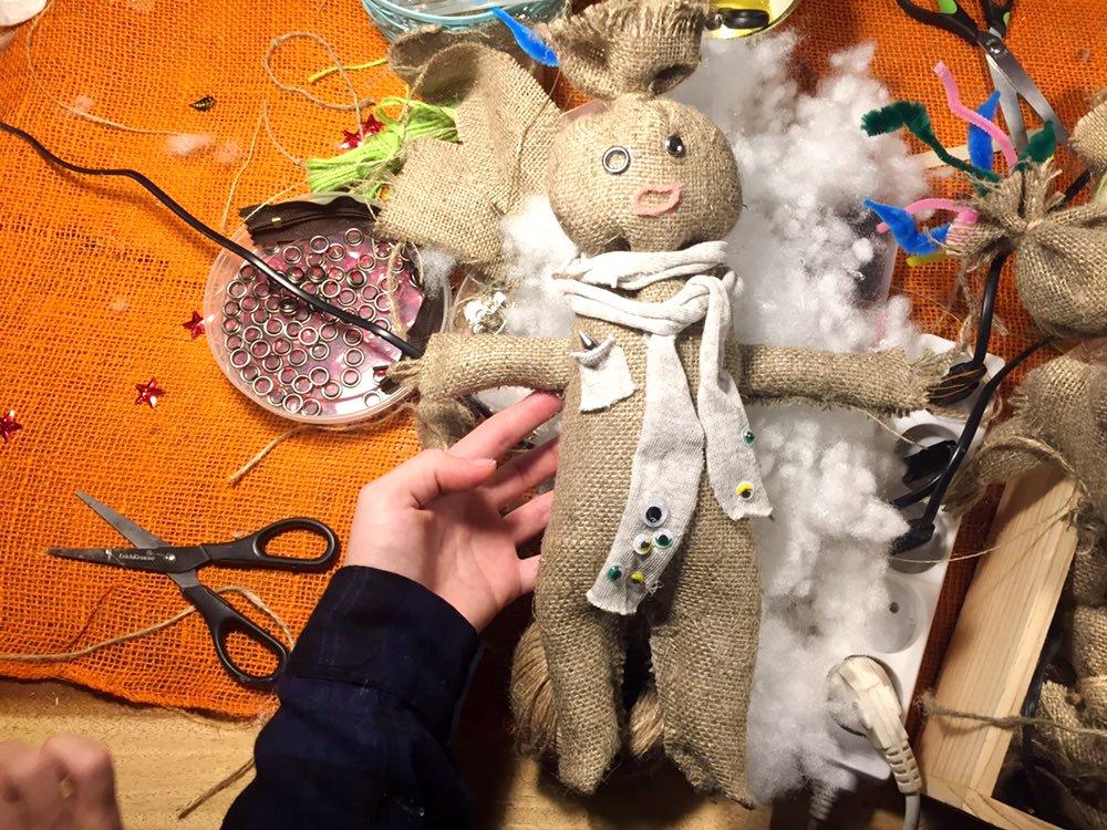Куклы из мешковины