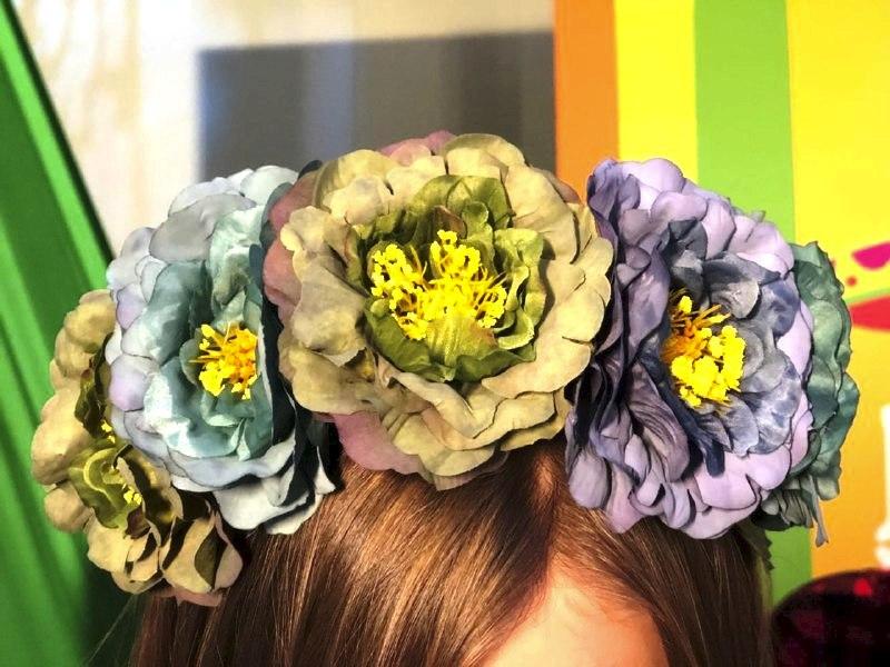 Ободки из цветов мастер-класс