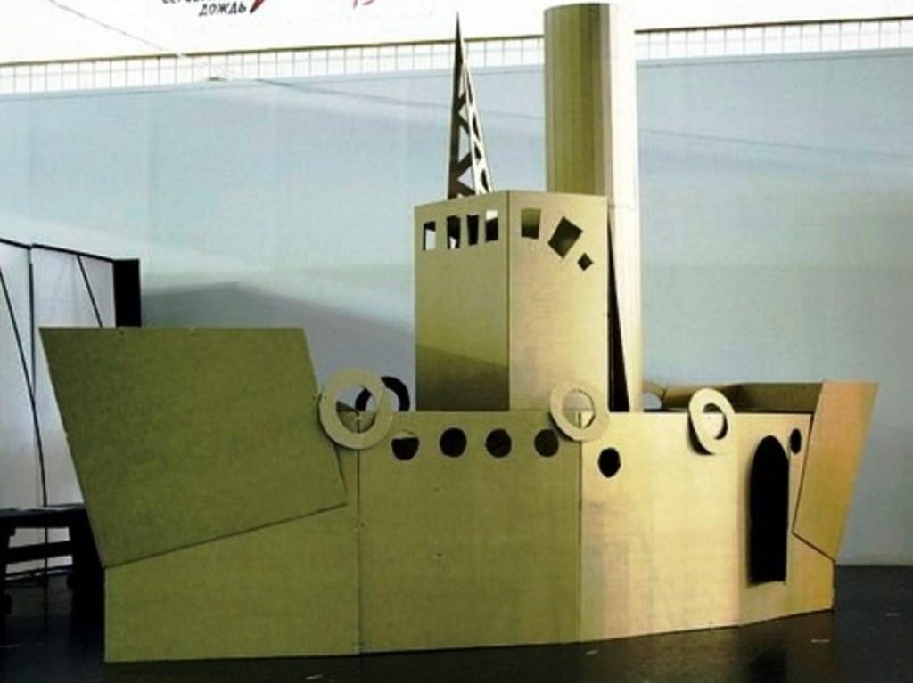Выездной мастер-класс по постройкам из картона