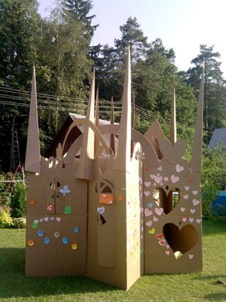 Мастер-класс по постройкам из картона