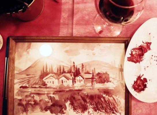 Мастер-класс по рисованию вином