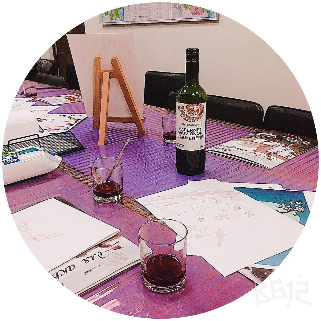 Рисование вином мастер-класс