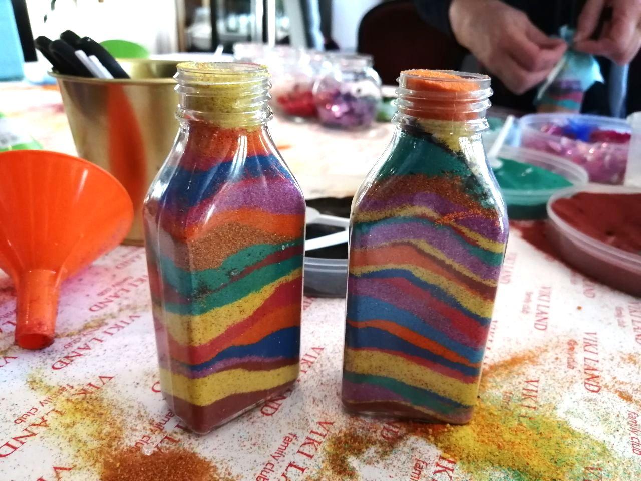 Бутылочки с песком своими руками