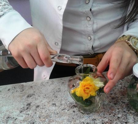 Выездной мастер-класс цветы в глицерине