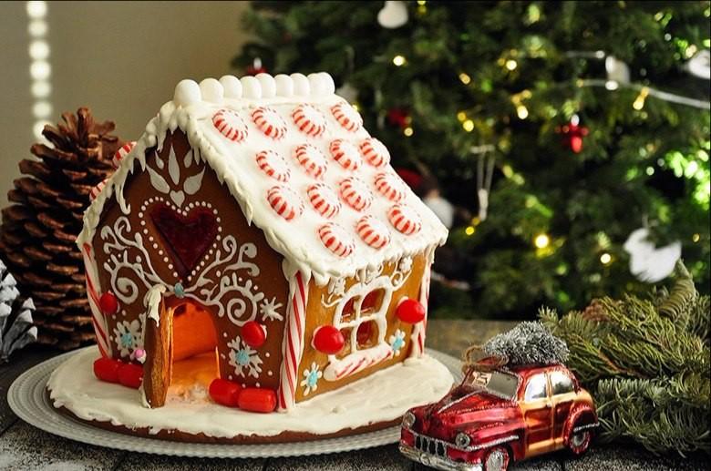 пряничный домик роспись