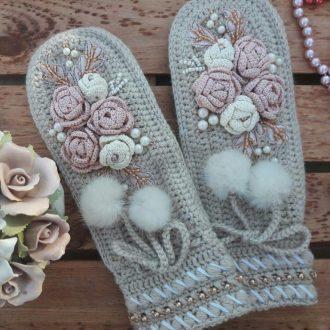 Декорирование варежек и перчаток