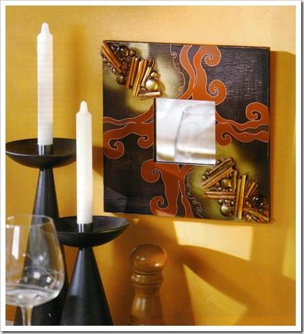 Зеркало из Икеа декорирование