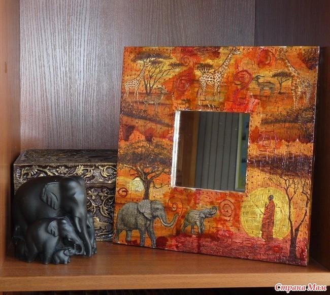 Декорирование рамы от зеркала