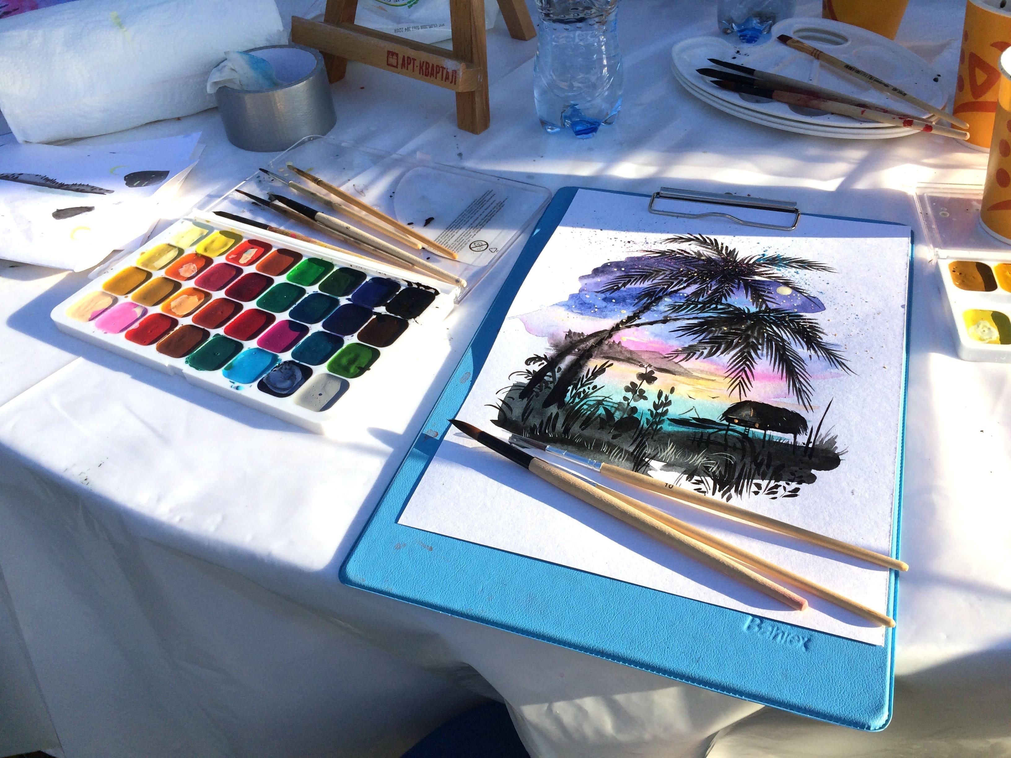 Рисование акварелью мастер-класс