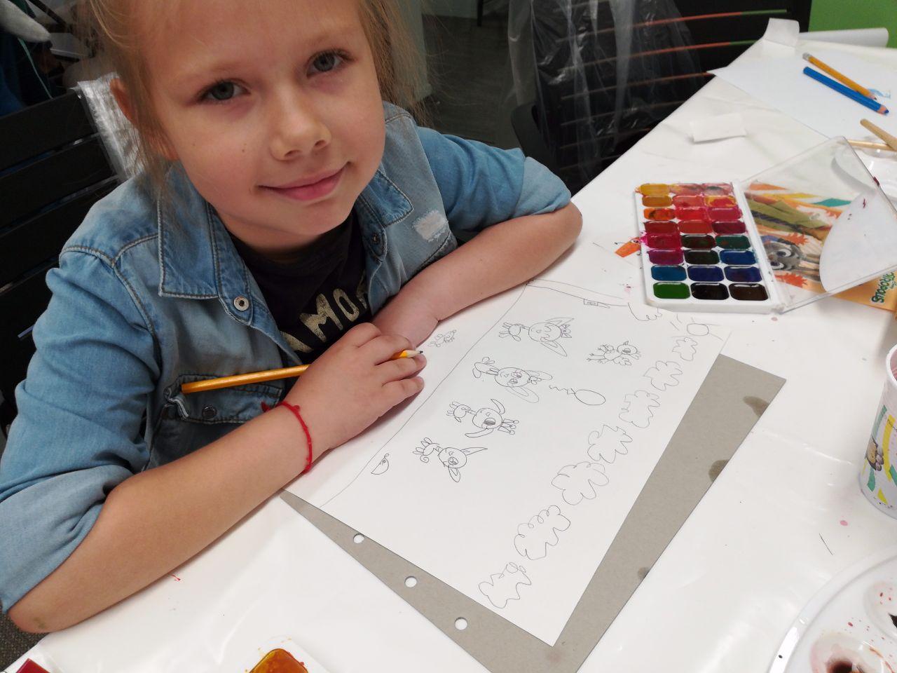 Мастер-класс по рисованию на день рождения