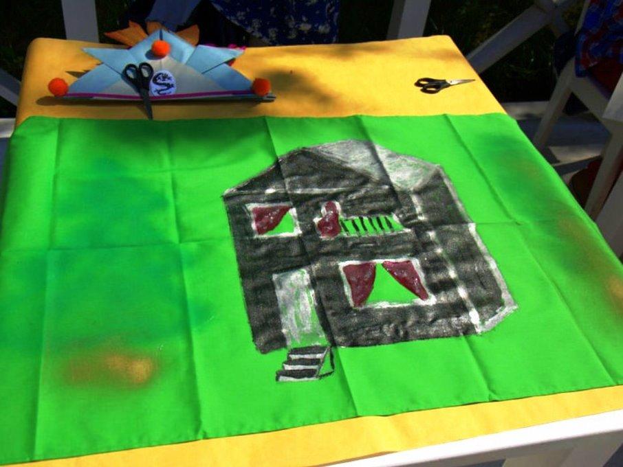 Выездной мастер-класс по коллективной росписи флага