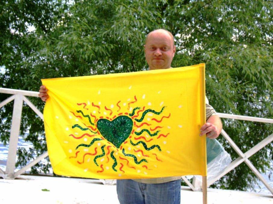 Роспись флагов и транспарантов