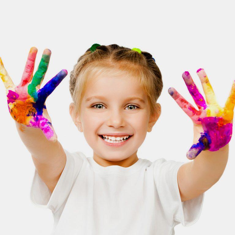девятый руки в краске картинки ребенка это счастье