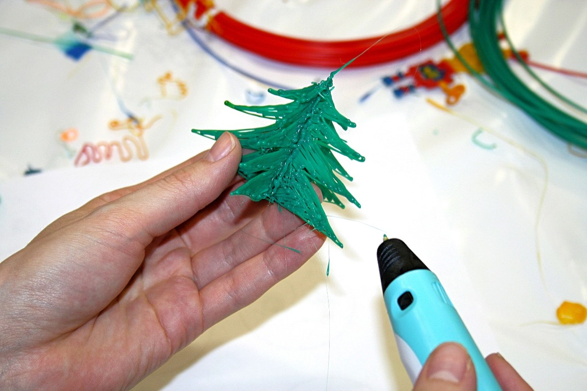 рисование пластиком