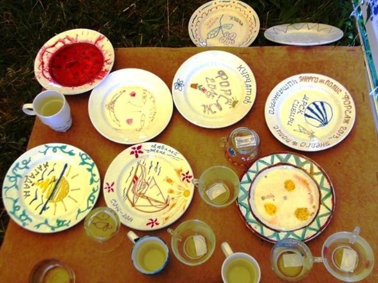 Роспись тарелок мастер-класс
