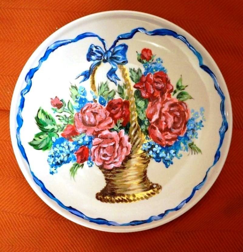 Мастер-класс по росписи тарелок