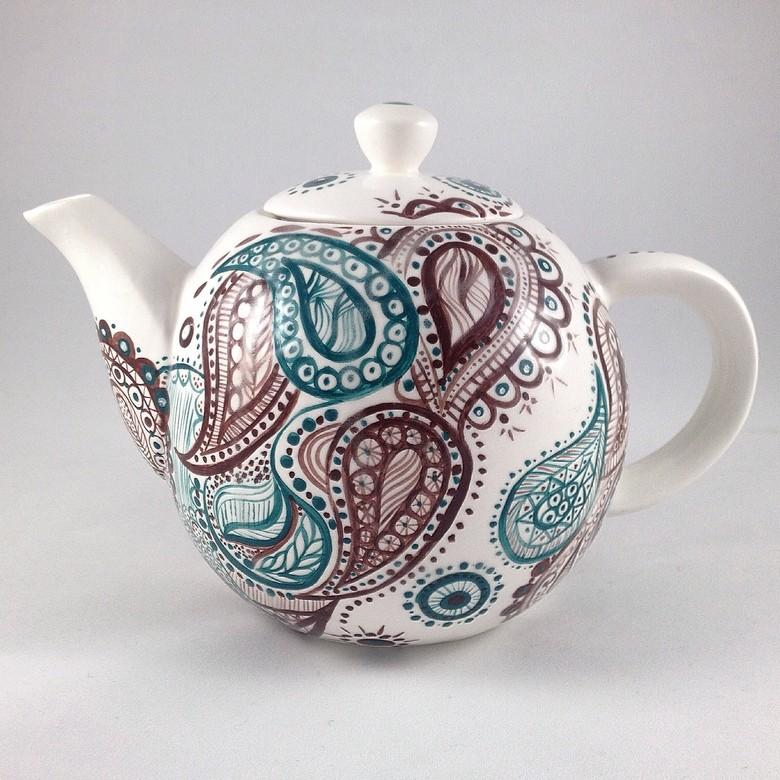 Керамический чайник роспись