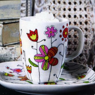 Роспись чайной пары