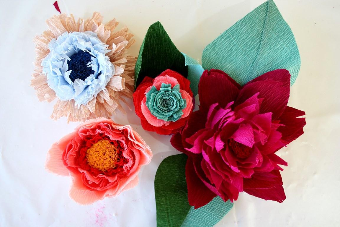 Мастер-класс по изготовлению цветов из бумаги