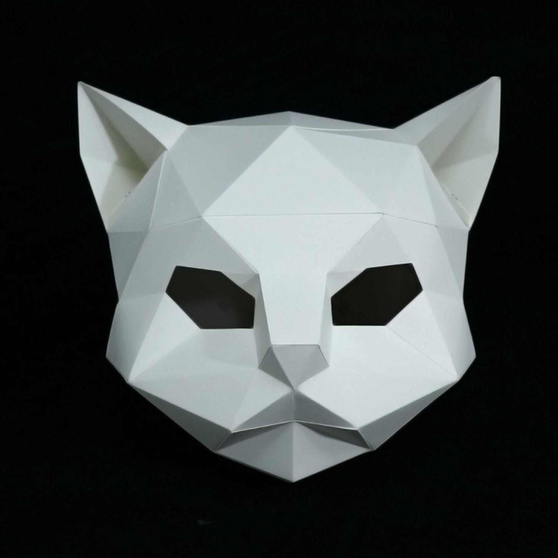 полигональная маска кошки