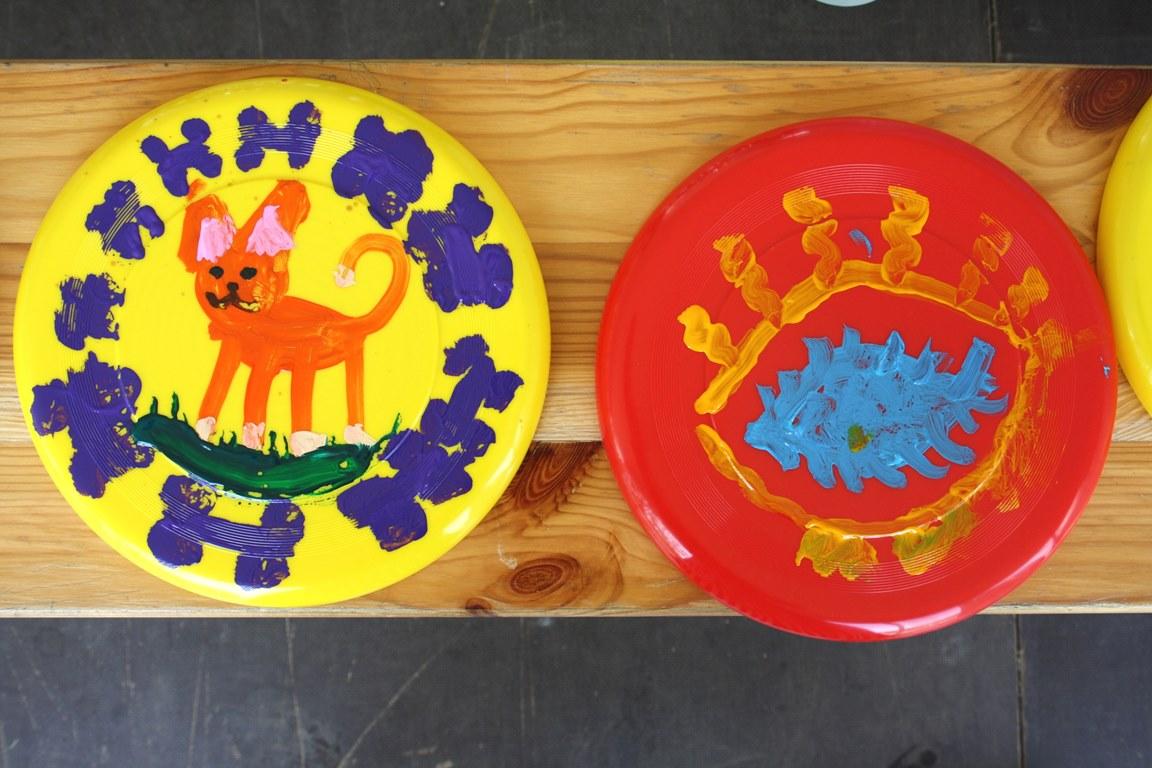 мастер-класс по росписи летающей тарелки