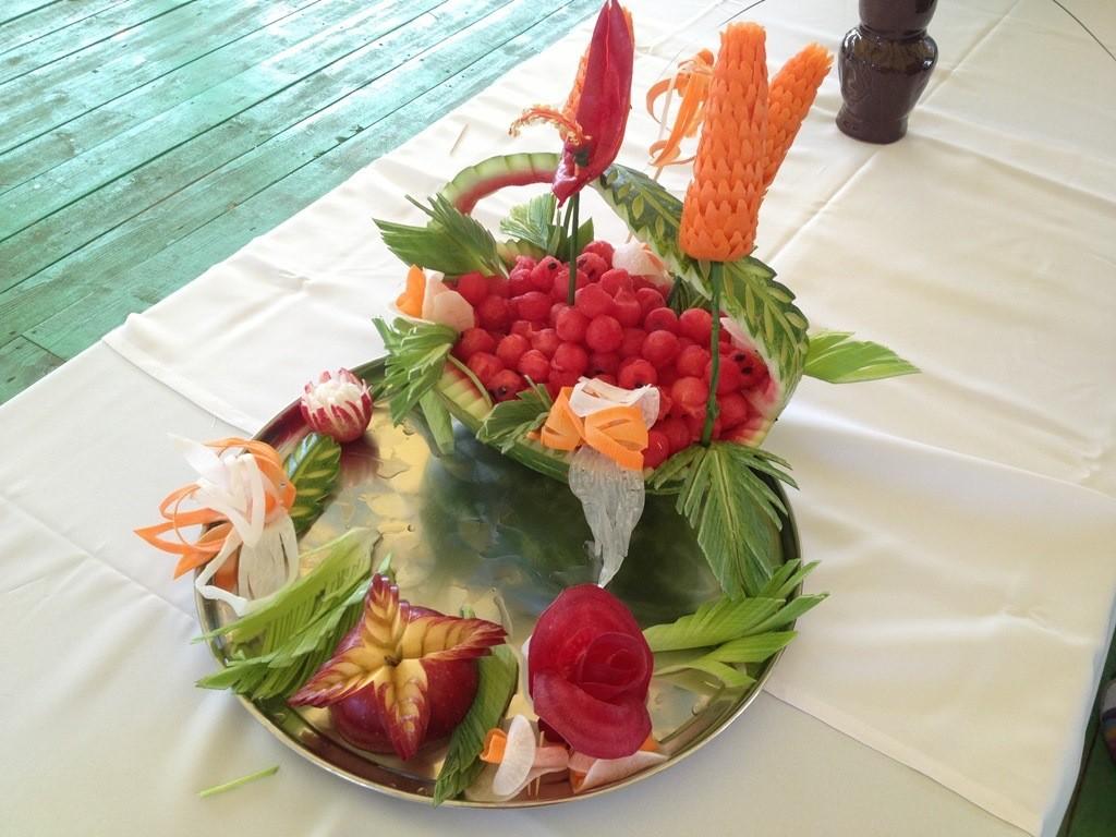 карвинг резьба овощей