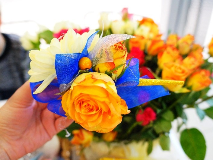 украшения из живых цветов