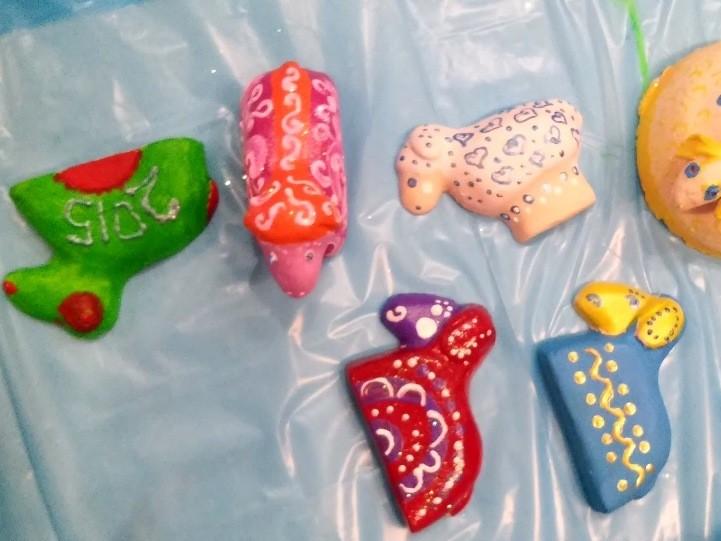 роспись игрушек из глины