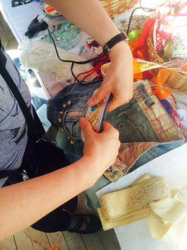 декорирование джинсов