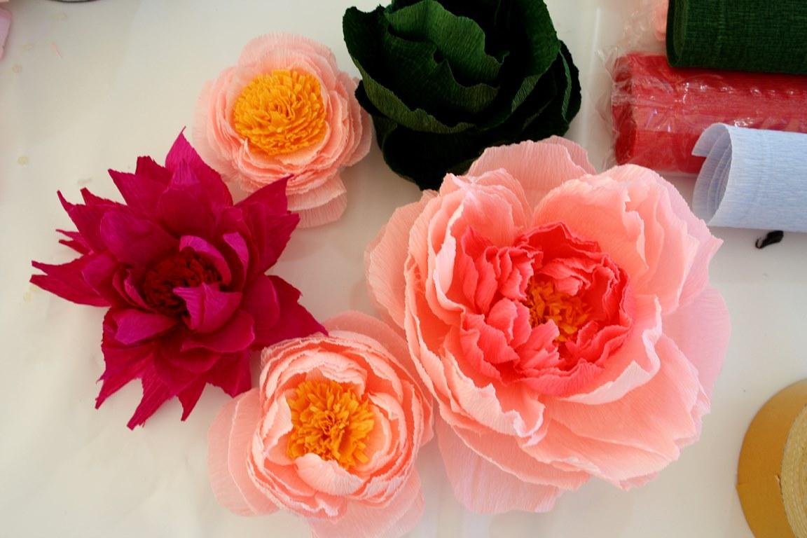 цветы из бумаги декор интерьера